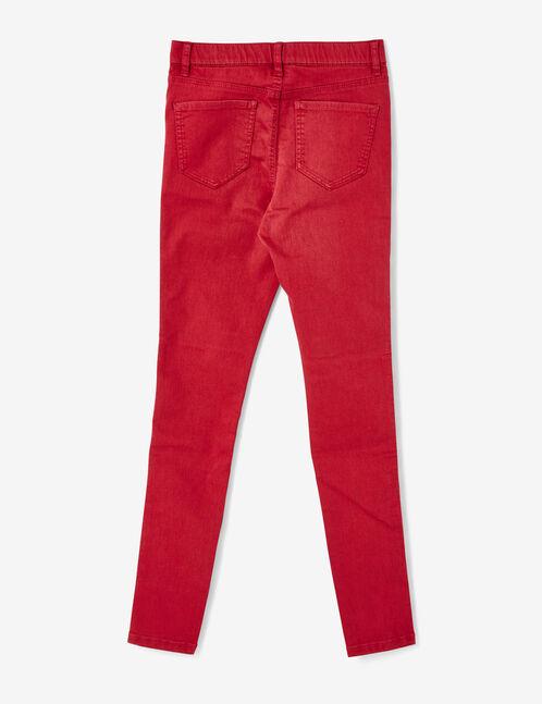 jegging taille élastiquée rouge foncé