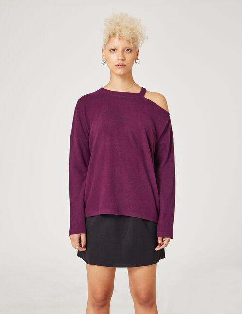 tee-shirt avec ouverture violet