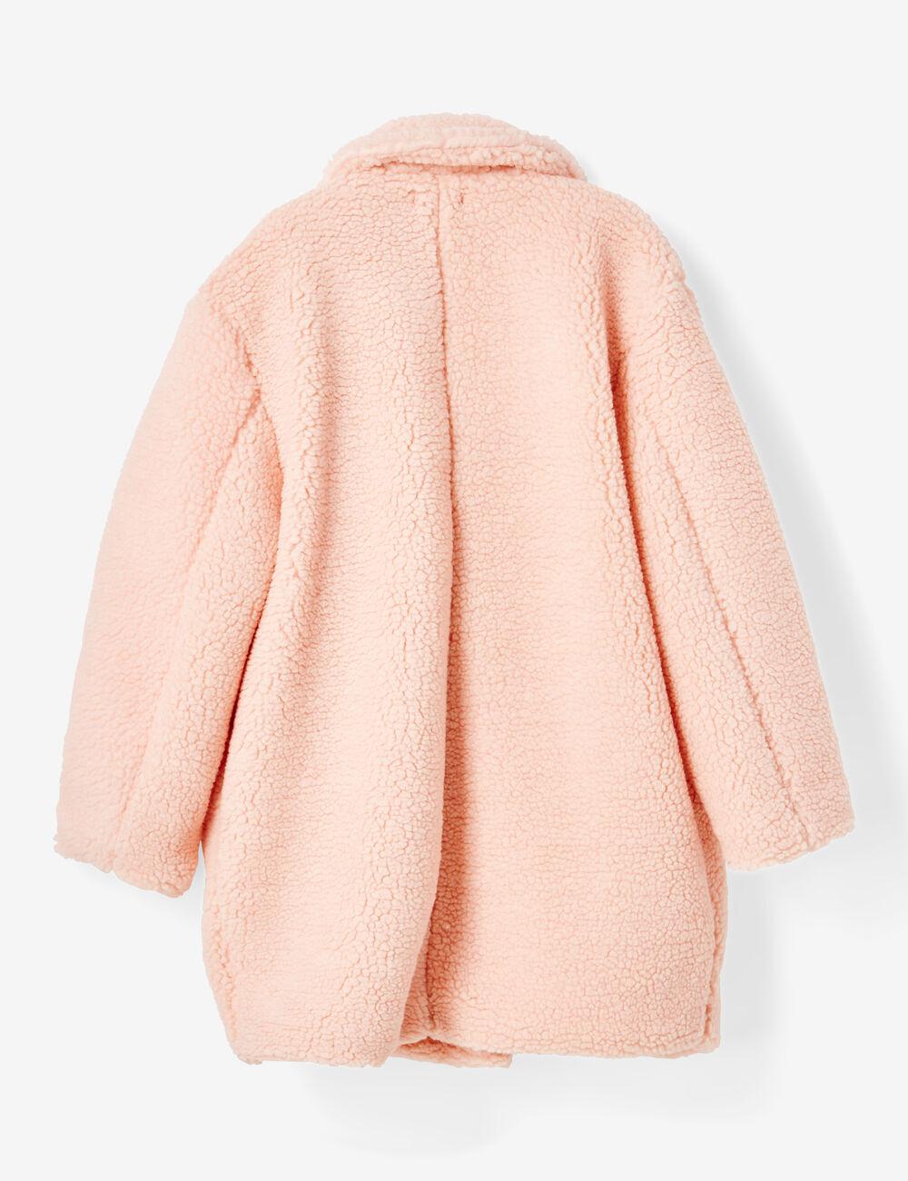 manteau fausse fourrure rose clair femme jennyfer. Black Bedroom Furniture Sets. Home Design Ideas
