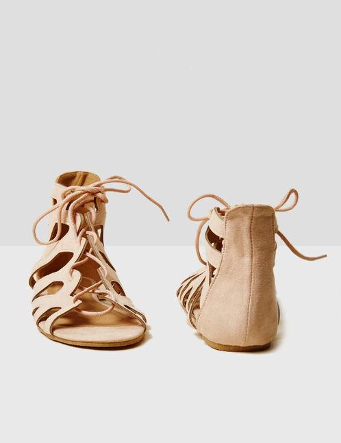 sandales spartiates nude