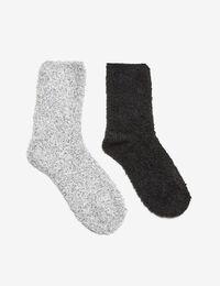 chaussettes mi hautes noires et grises femme jennyfer. Black Bedroom Furniture Sets. Home Design Ideas