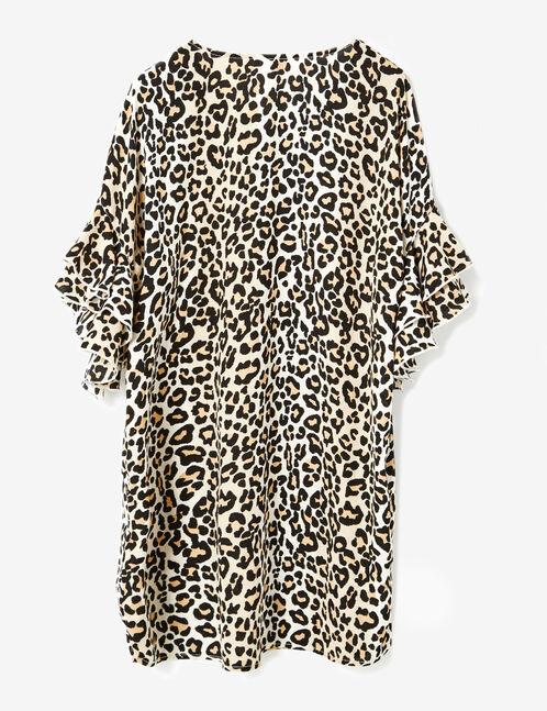 robe léopard camel