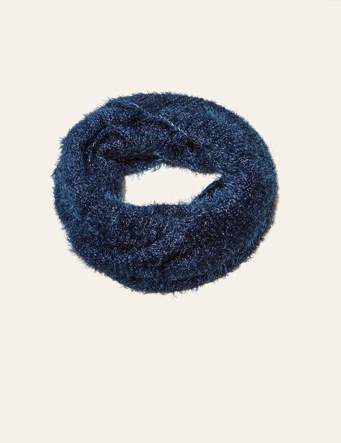 tour de cou en mohair bleu marine