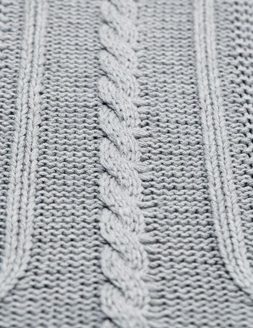 pull maille texturée gris chiné