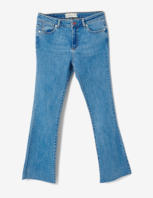 jean kick flare brodé medium blue