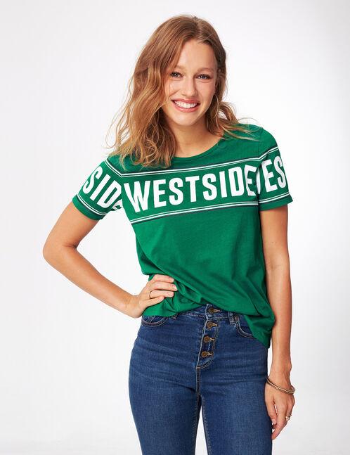 """Green """"westside"""" T-shirt"""