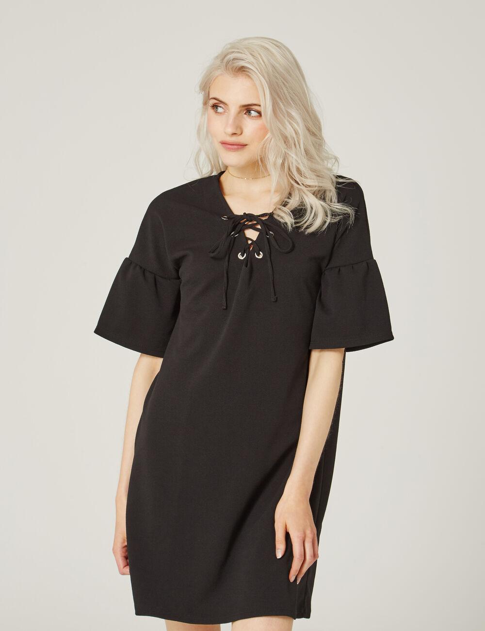 robe avec la age noire femme jennyfer. Black Bedroom Furniture Sets. Home Design Ideas