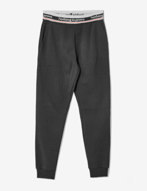 "Black ""nothing to prove"" joggers"