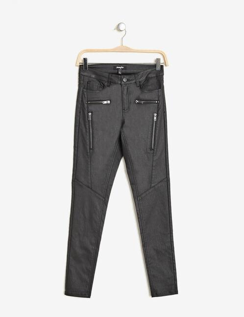 pantalon biker enduit noir