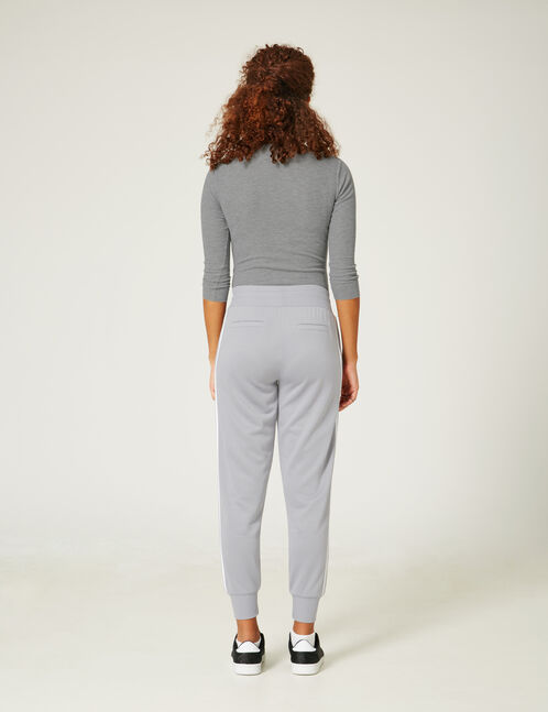 Grey marl bodysuit with lacing detail