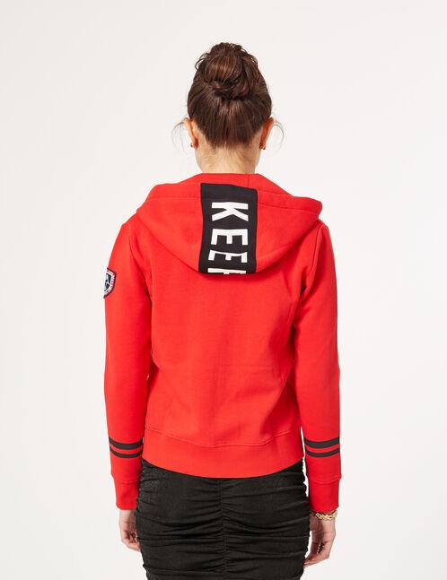 sweat zippé keep track rouge