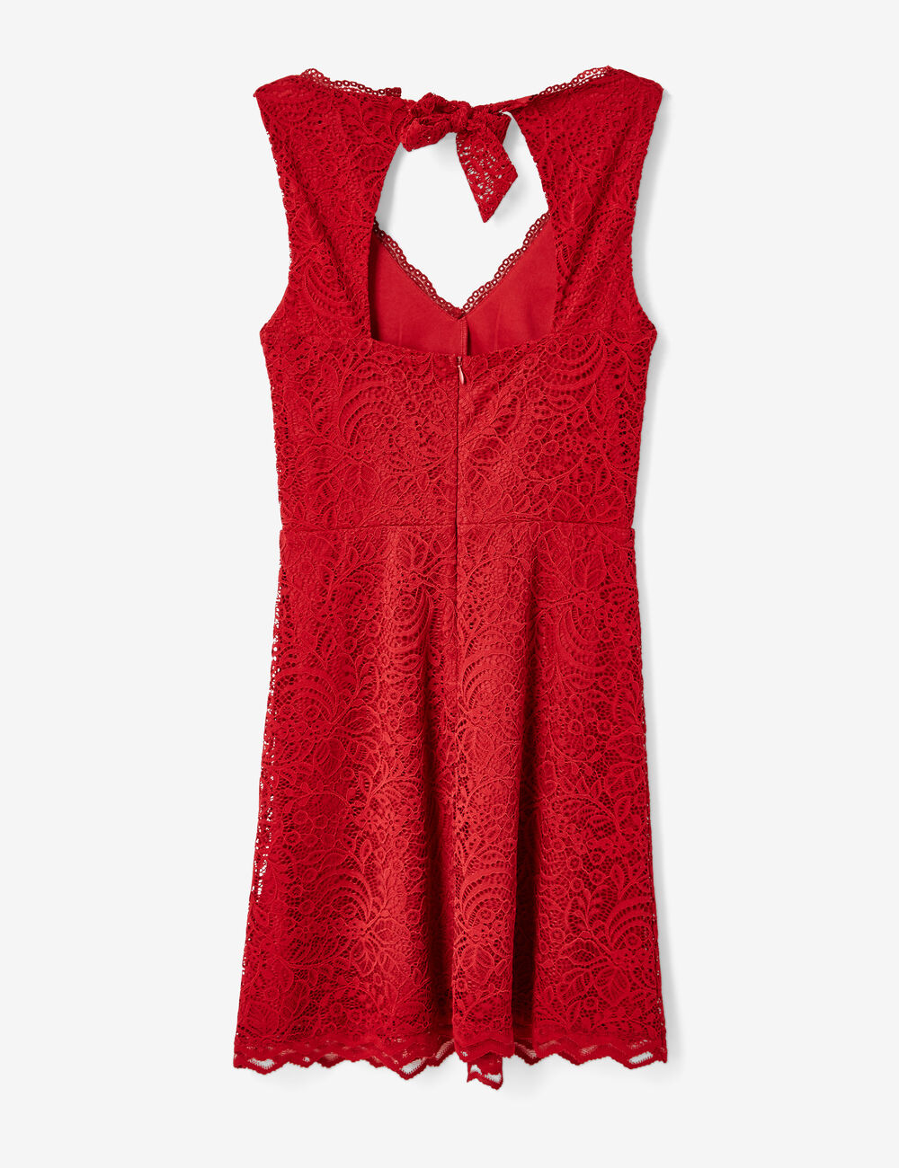 Robe rouge dentelle jennyfer