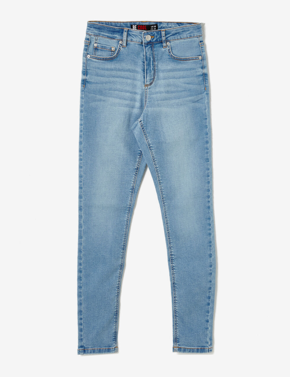 jean super skinny taille haute bleu ciel ...