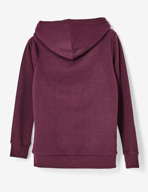 sweat zippé doublé violet