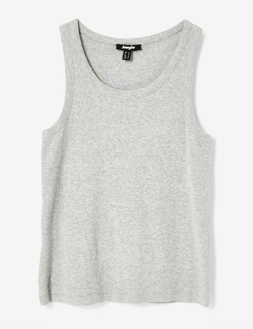 Basic grey marl tank top