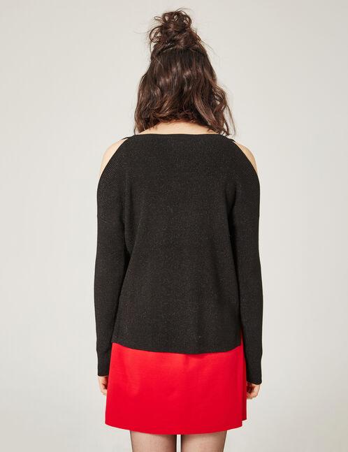 Back cold shoulder jumper