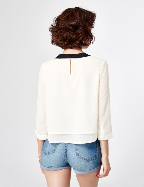 blouse col claudine écru