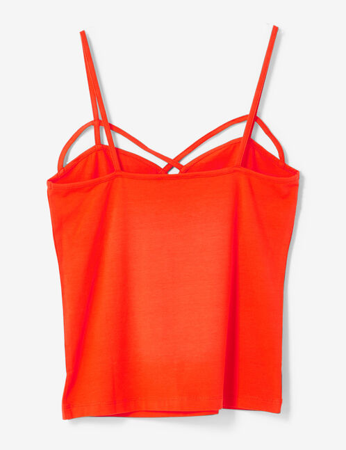 Red camisole with strap detail