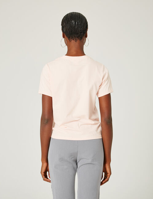 Light pink T-shirt with pearl detail