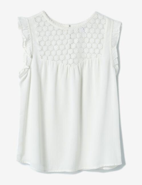 blouse avec dentelle écrue