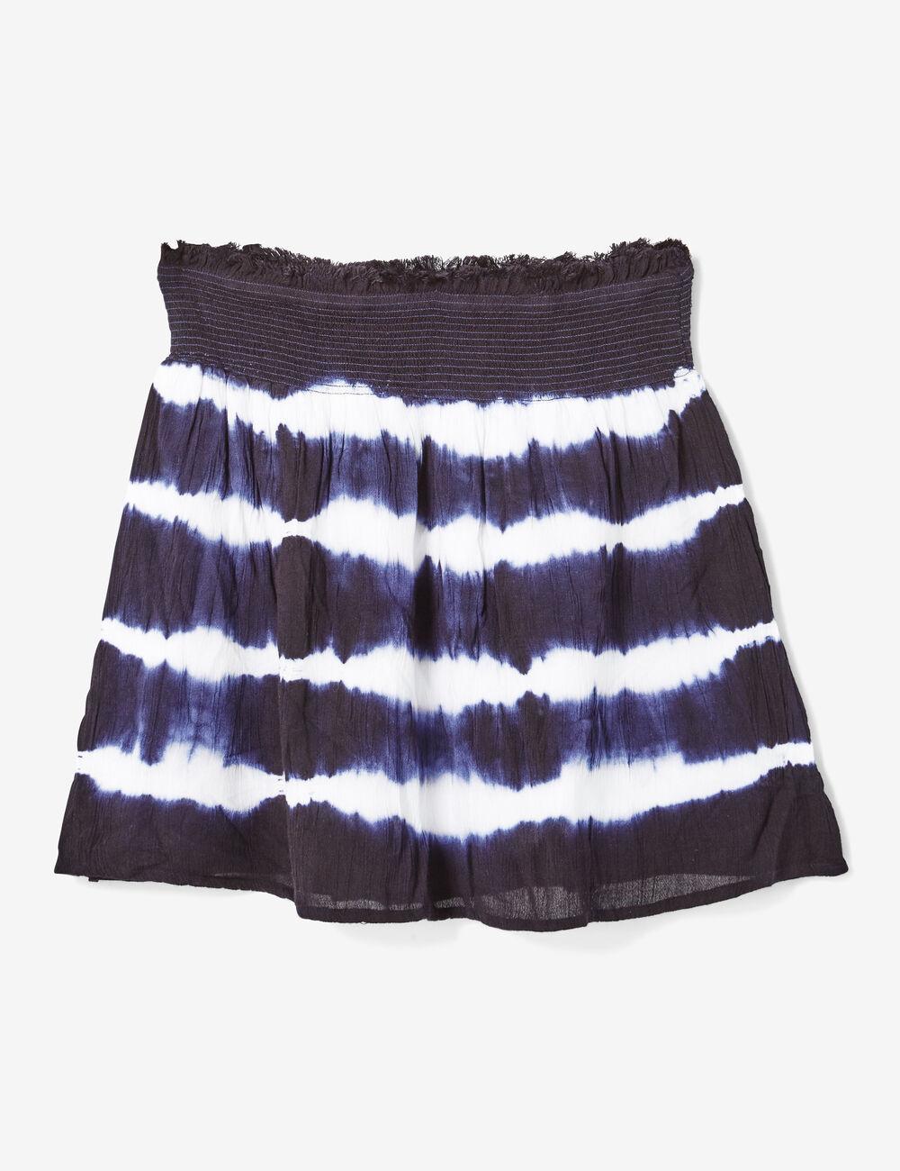 jupe tie and dye bleu marine et cru femme jennyfer. Black Bedroom Furniture Sets. Home Design Ideas