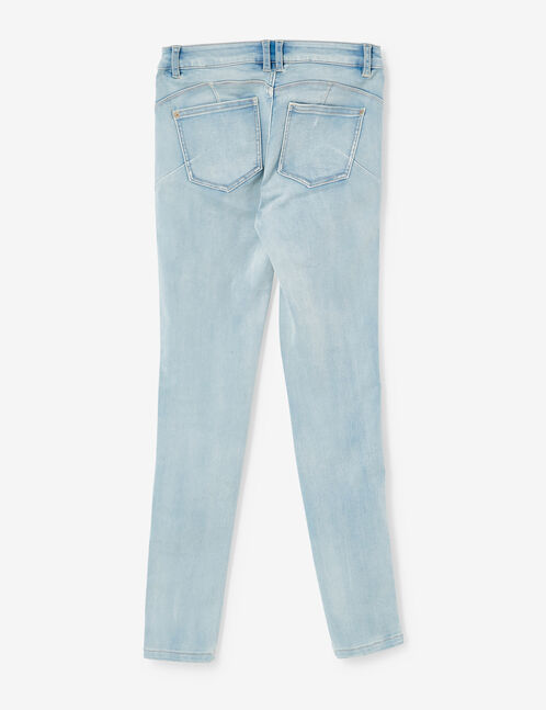 Light blue super skinny push-up jeans