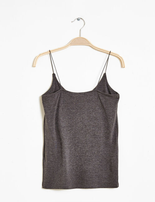 anthracite grey spaghetti straps tank top