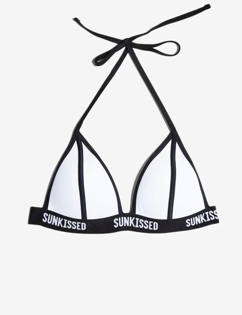 haut de maillot sunkissed blanc et noir