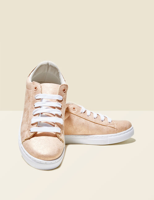Light pink sparkly trainers