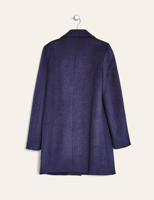 manteau revers bleu marine