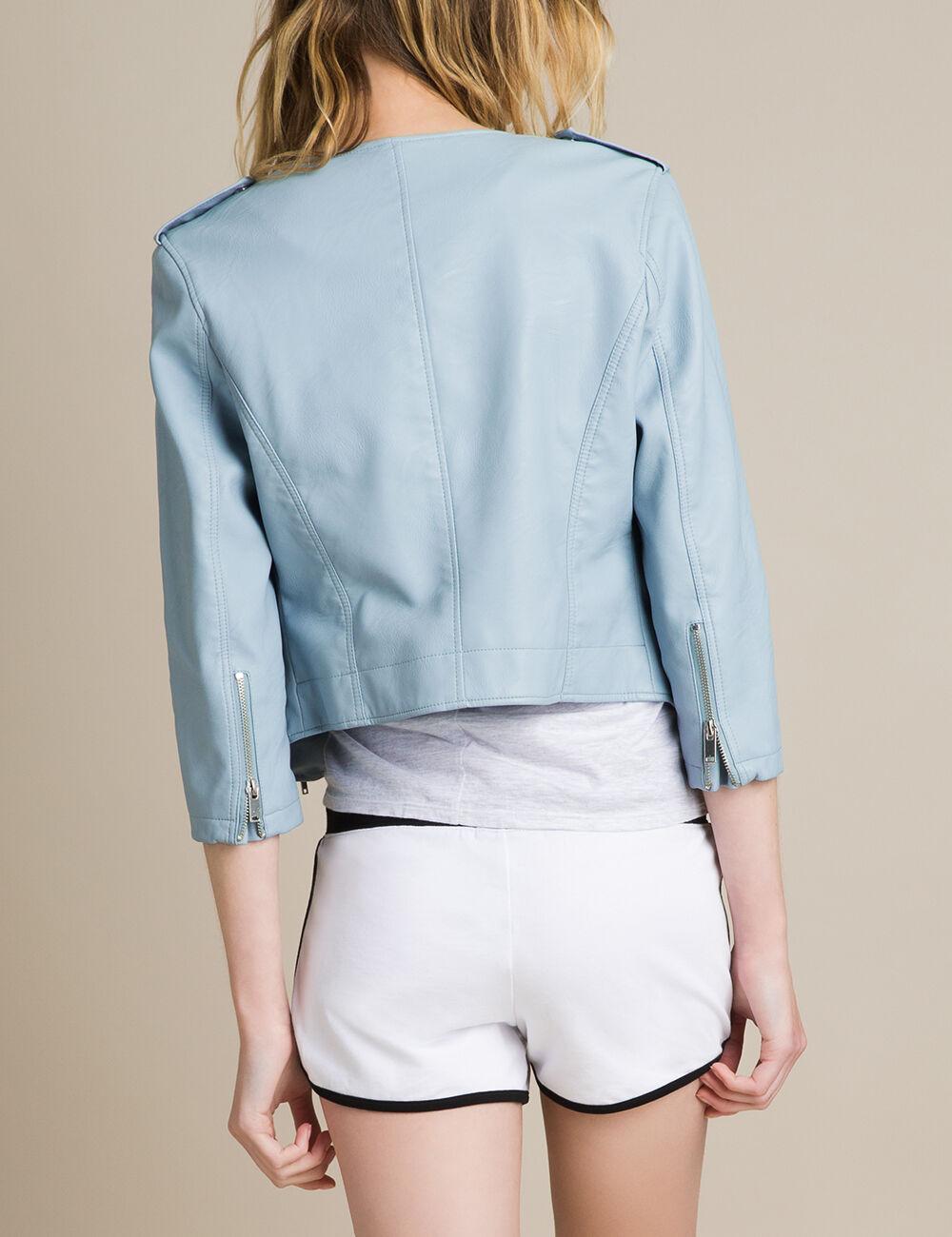 6c0321f62ffbf blouson femme bleu ciel,Gilet veste femme