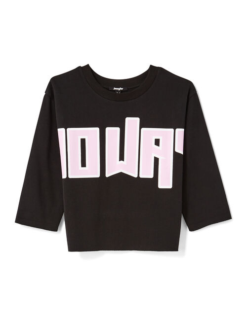 "Black ""no way"" print sweatshirt"