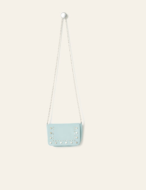Small light blue studded bag
