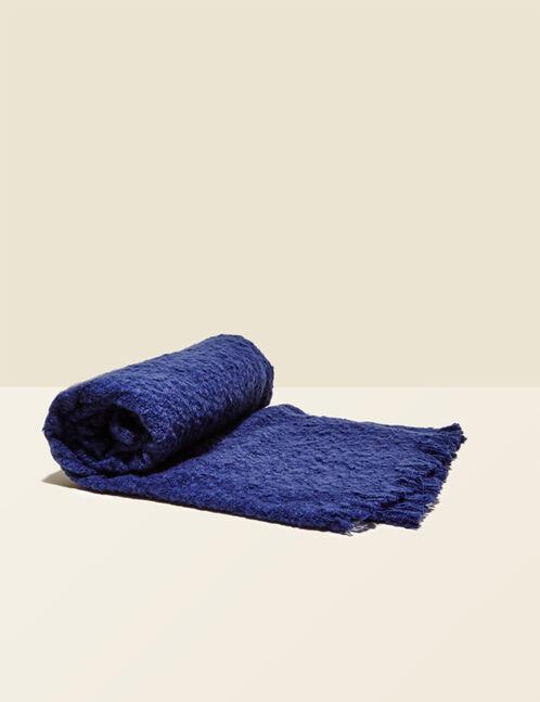 écharpe texturée bleu