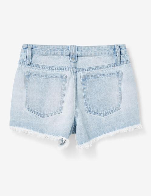 short avec bandes rayées bleu clair