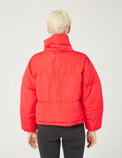 Red oversized padded jacket