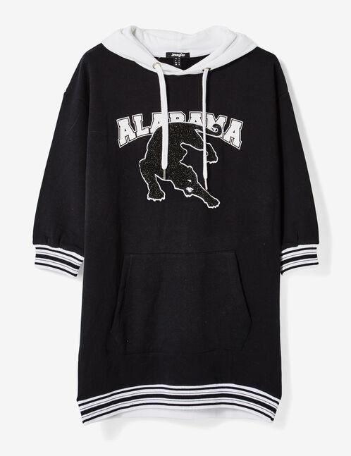 Long black hoodie