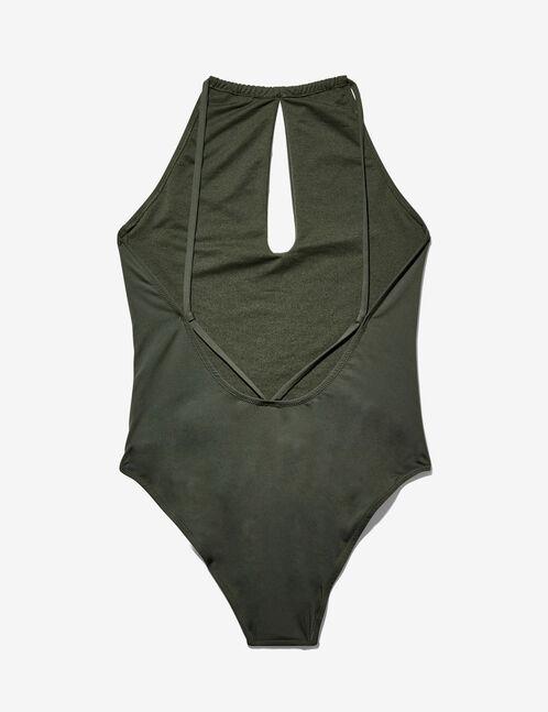 maillot de bain décolleté kaki