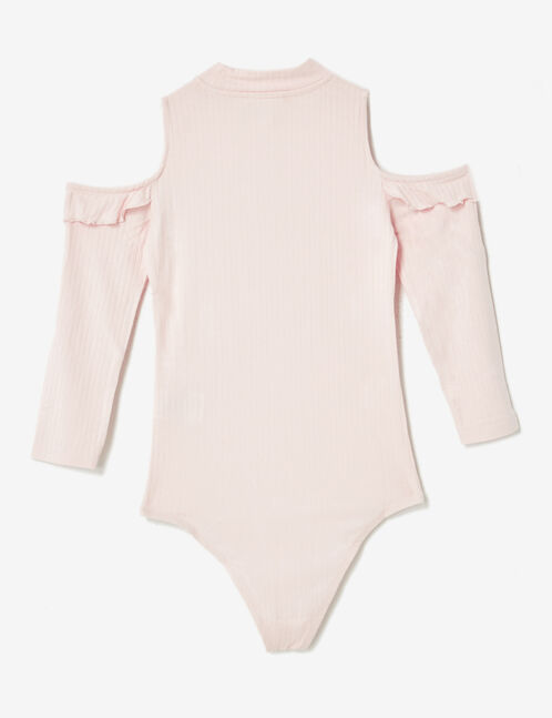 Light pink cold shoulder bodysuit