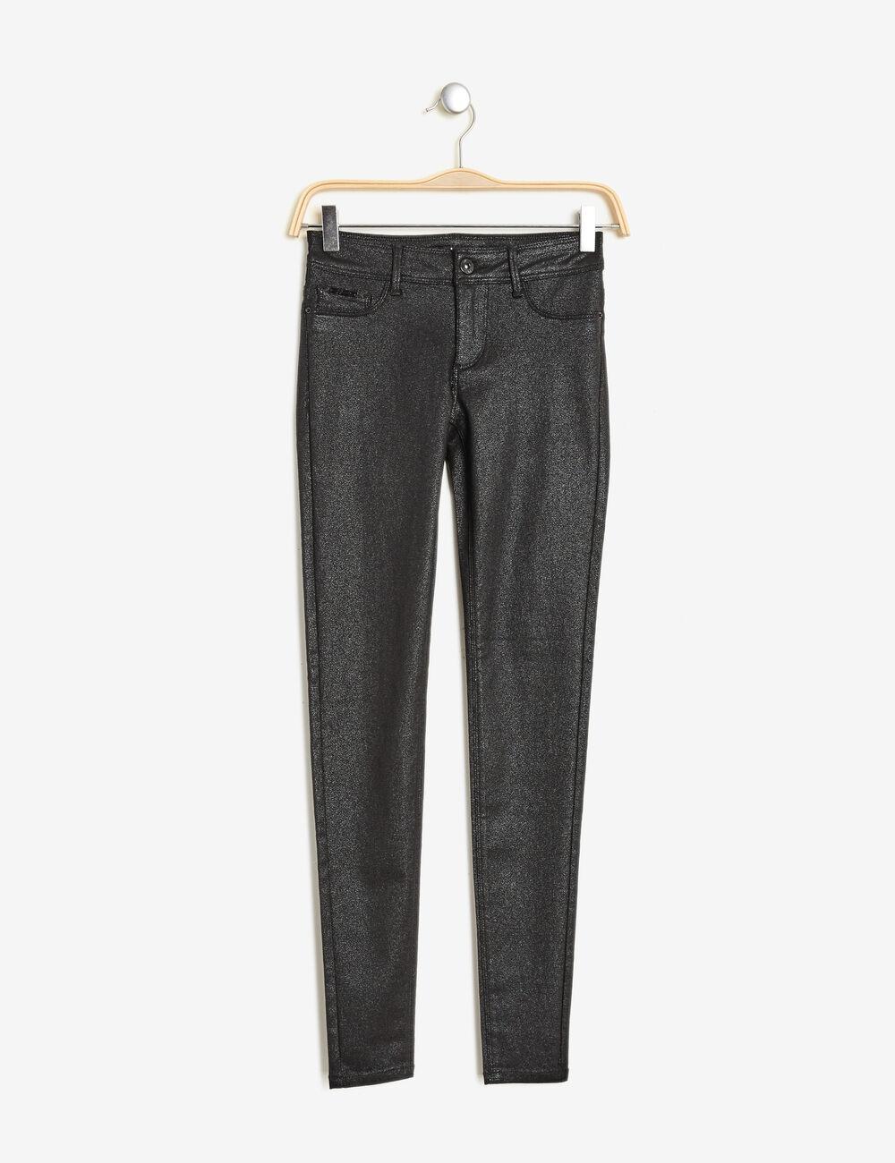 pantalon enduit brillant noir femme jennyfer. Black Bedroom Furniture Sets. Home Design Ideas