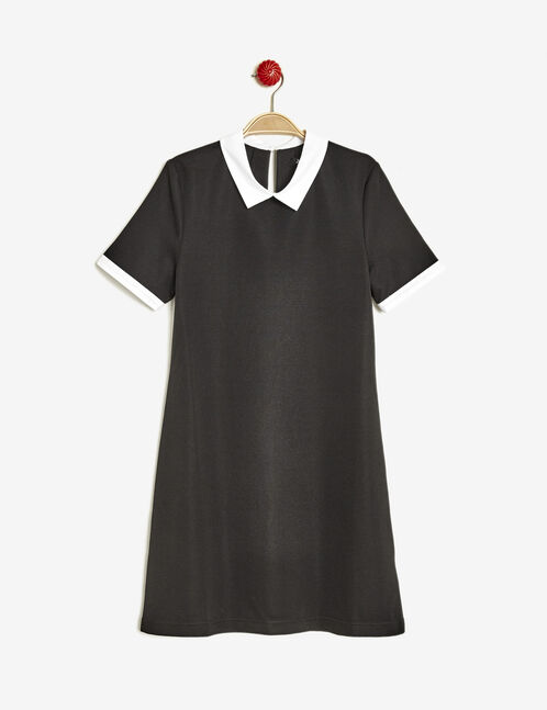 Black dress with white collar