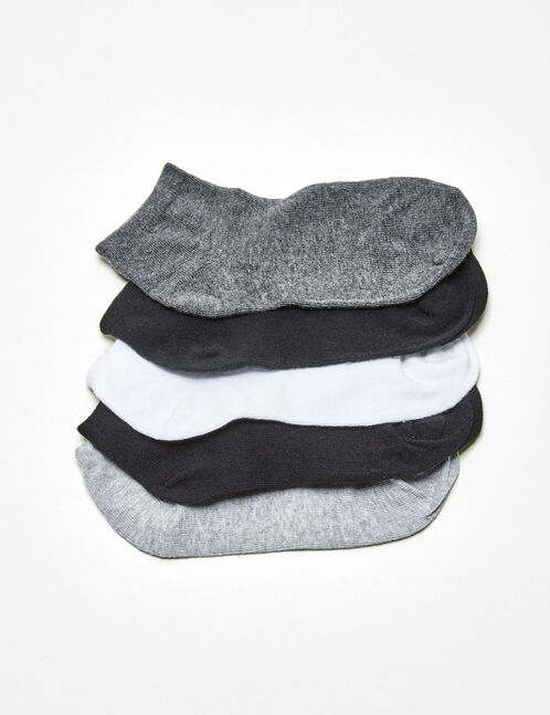 Basic black, grey and white socks