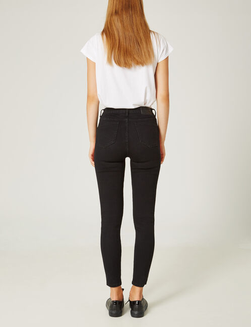 Black jeans with flame detail