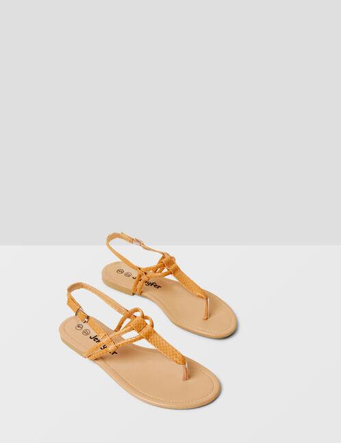 sandales à brides camel