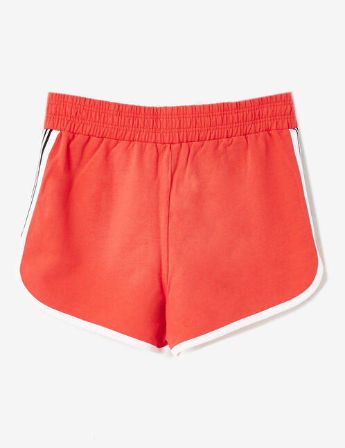 Shorts with red lacing detail