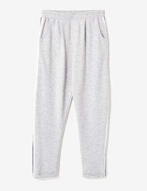 jogging à pinces gris chiné