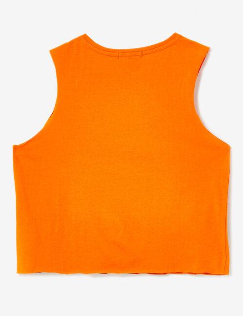 débardeur ghosting orange