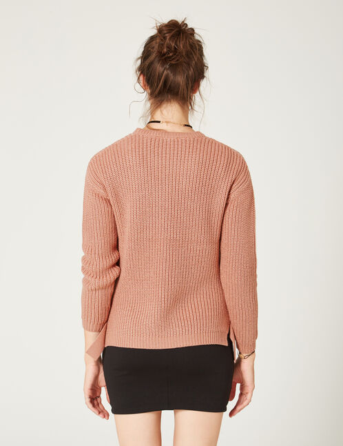 Light pink jumper with buckle detail