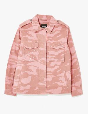 veste imprimé camouflage rose