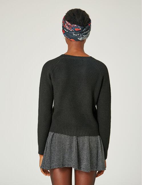 jupe patineuse avec lurex argentée et noire